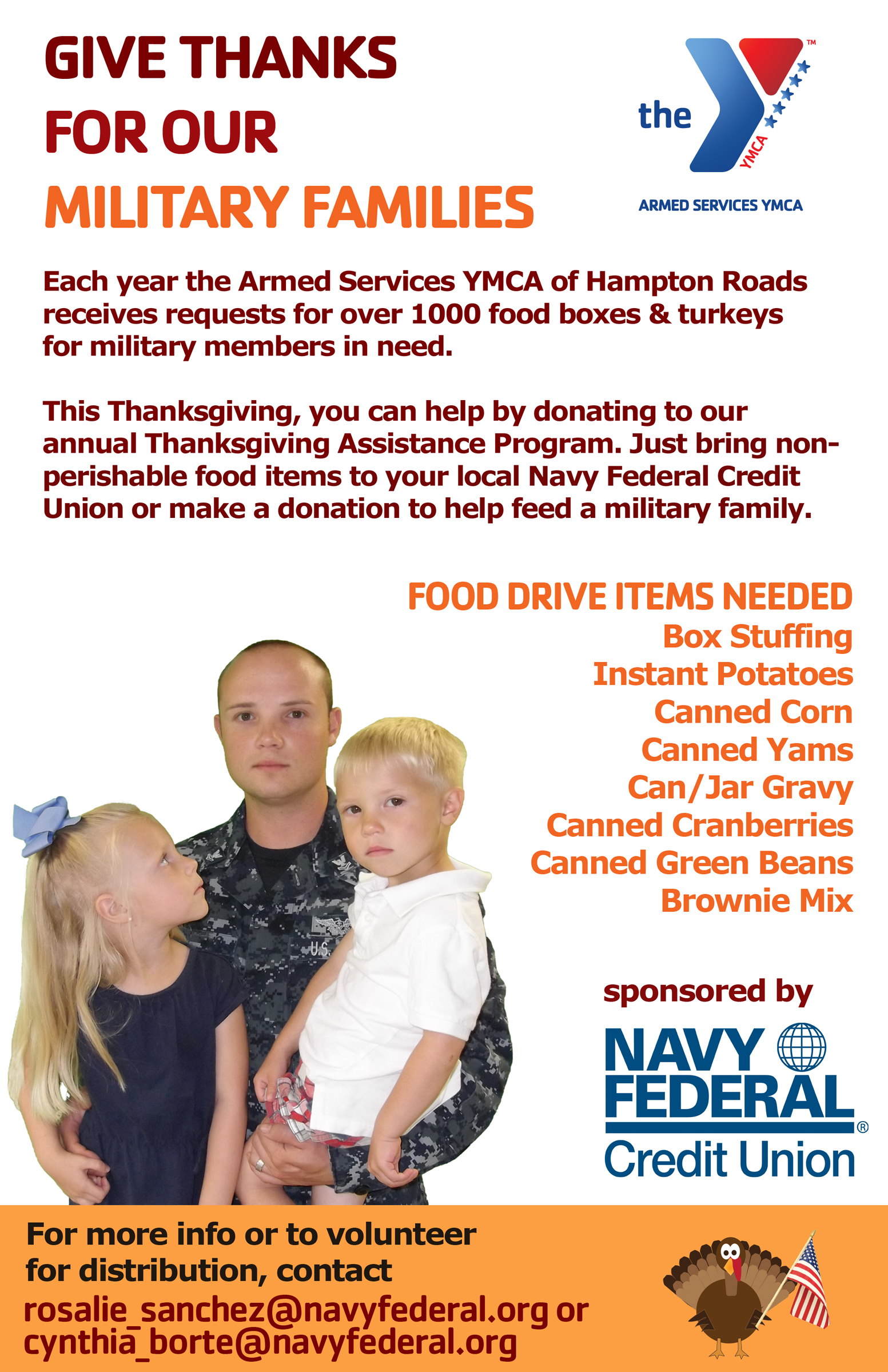 Va) Each Year The Ymca Of Hampton Roads Receives Requests For Over 1000  Food Boxes And Turkeys For Military Members In Need This Thanksgiving You  Can