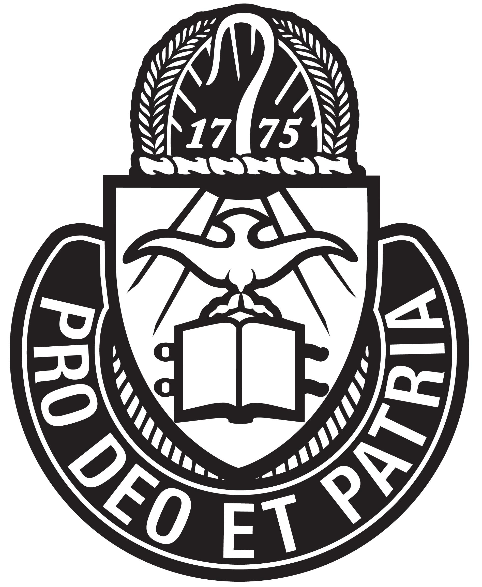 Current Chaplain Crest Black White JPG