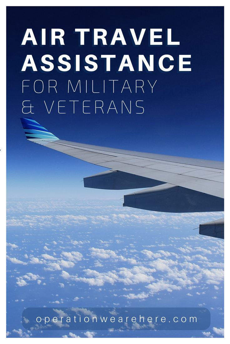 Air travel assistance for military & veterans