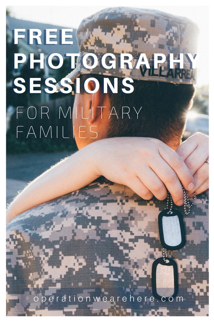 Free deployment photography sessions for military families
