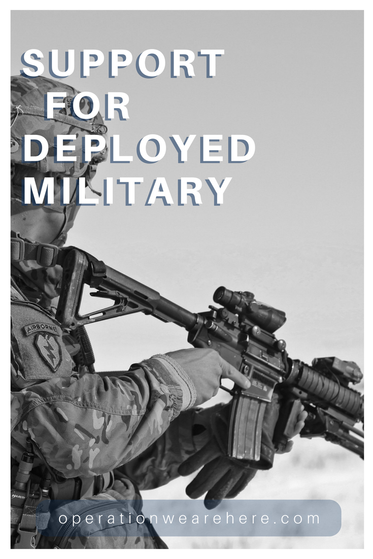 BEST list of support organizations for deployed US military personnel! #AirForce #Army #MarineCorps #Navy #Troops