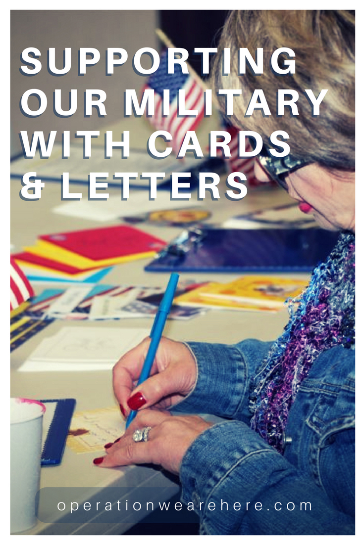 Supporting deployed military, homefront families, wounded warriors, caregivers, veterans, critically ill or sick military children with cards & letters