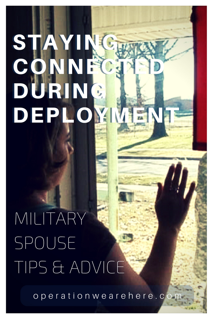 Military spouses share best tips & advice for staying connected during deployment & geographical separations #marriage