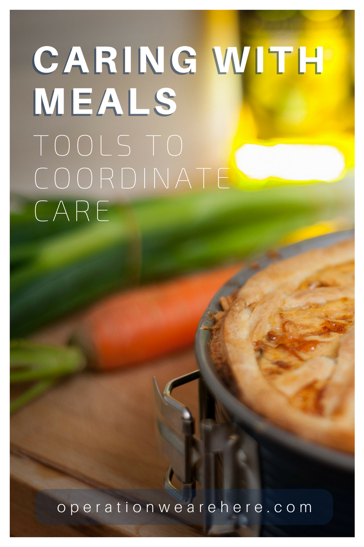 Tools to coordinate care for military families; resources to help with the gift of meals and support.