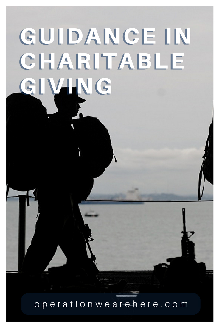 Tools to make informed decisions when donating to military non-profits #CharityGuide