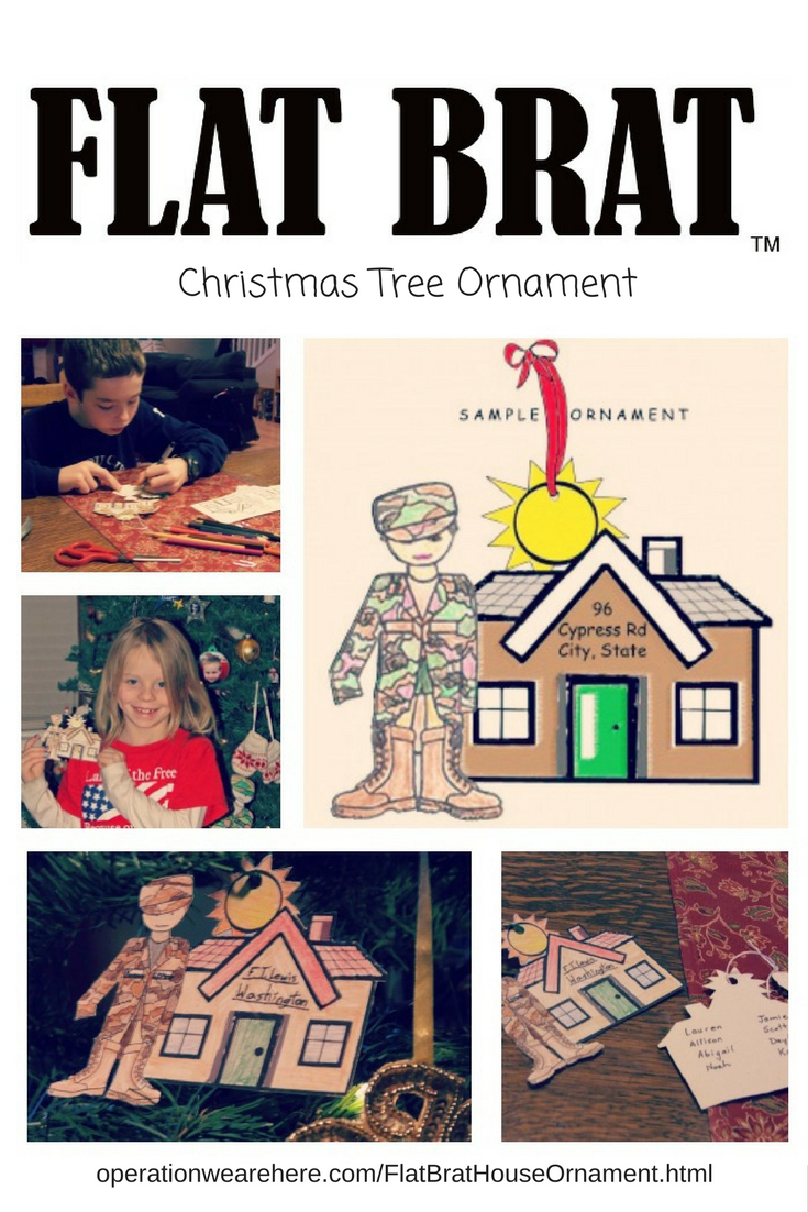 Free printable Christmas tree ornament craft for military kids! #PCS #MilChild #MilFam #Christmas #Craft