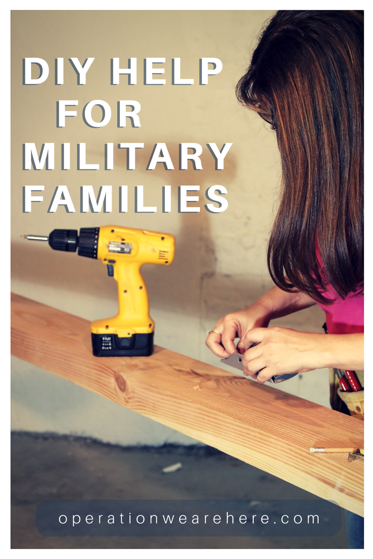 DIY resources for military families. Help and advice for home improvement and repairs.