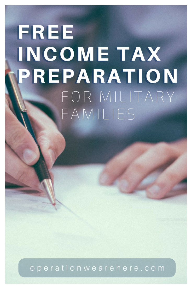 Free resources to help military families file their income tax forms.