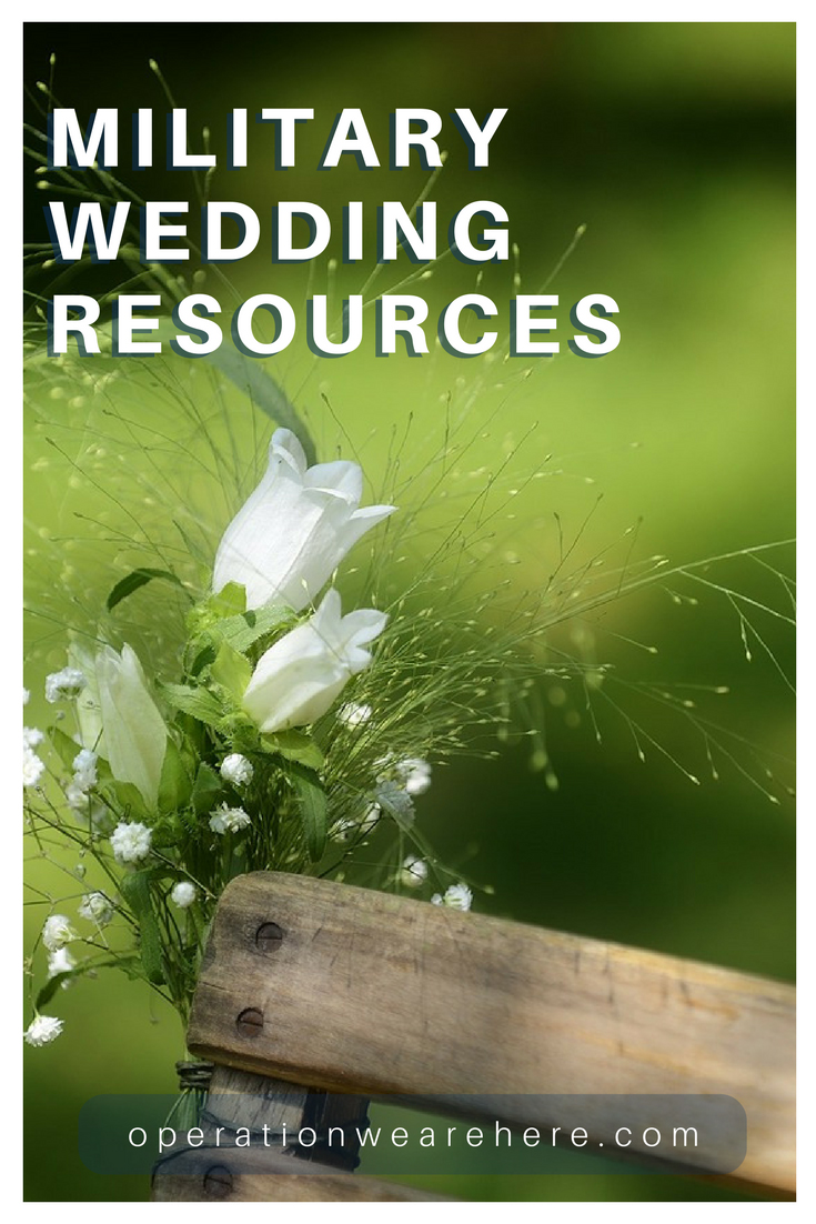 Military wedding resources, giveaways, books and free bridal gowns!