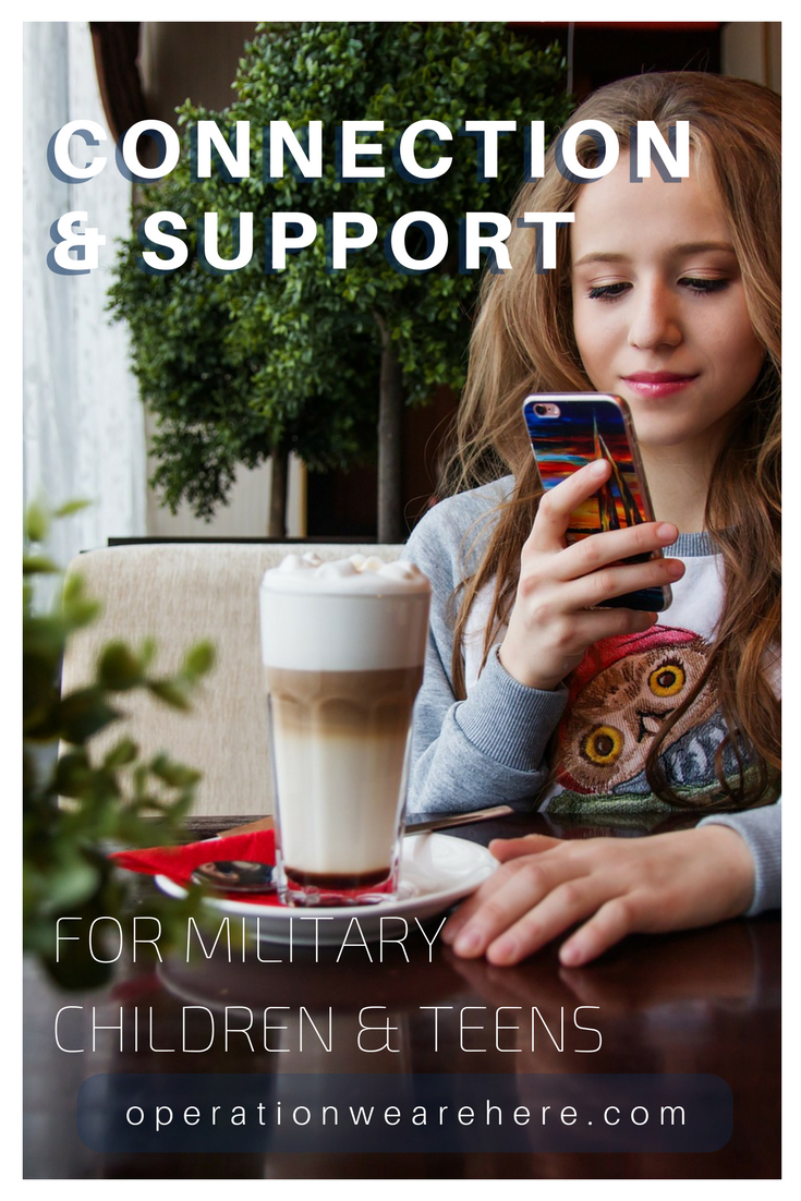 Connection & support for military children & teens
