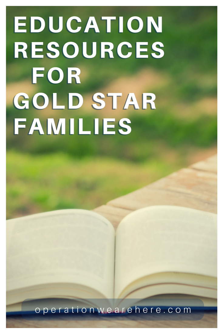 Gold Star family education & scholarship resources