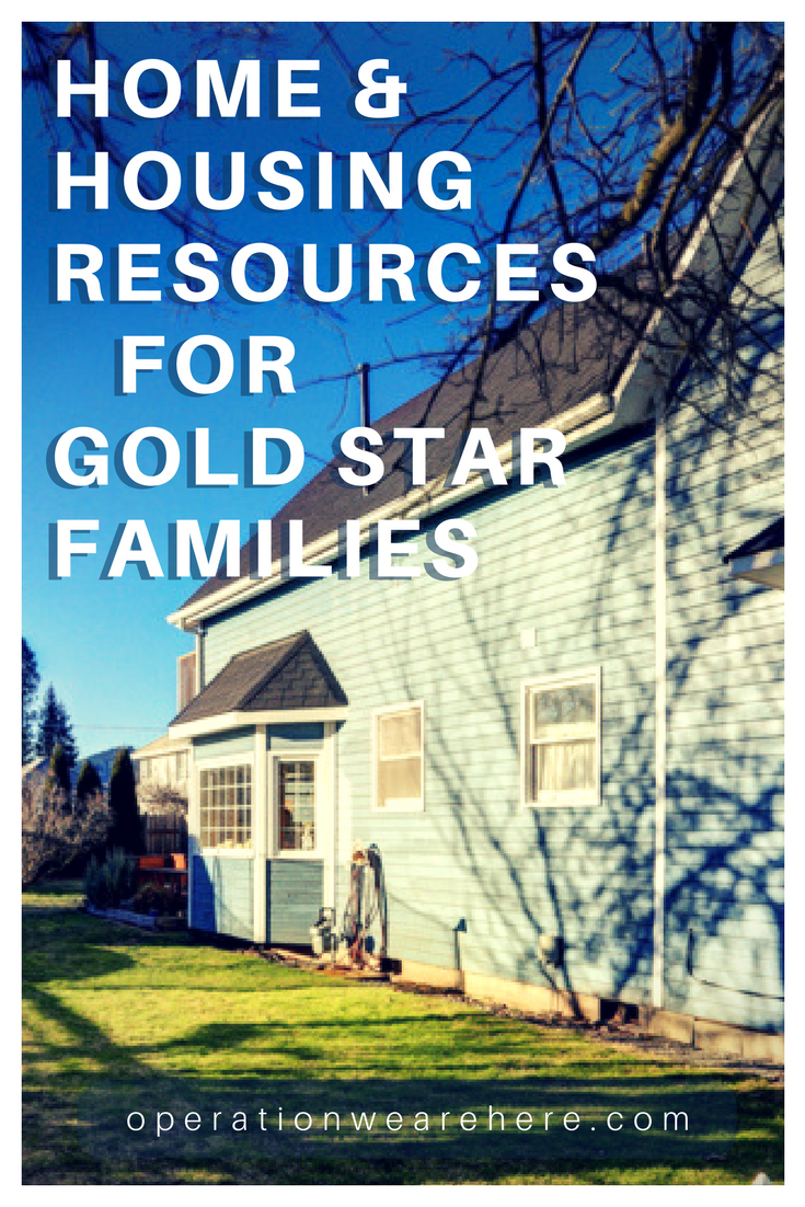 Home & housing resources for Gold Star families