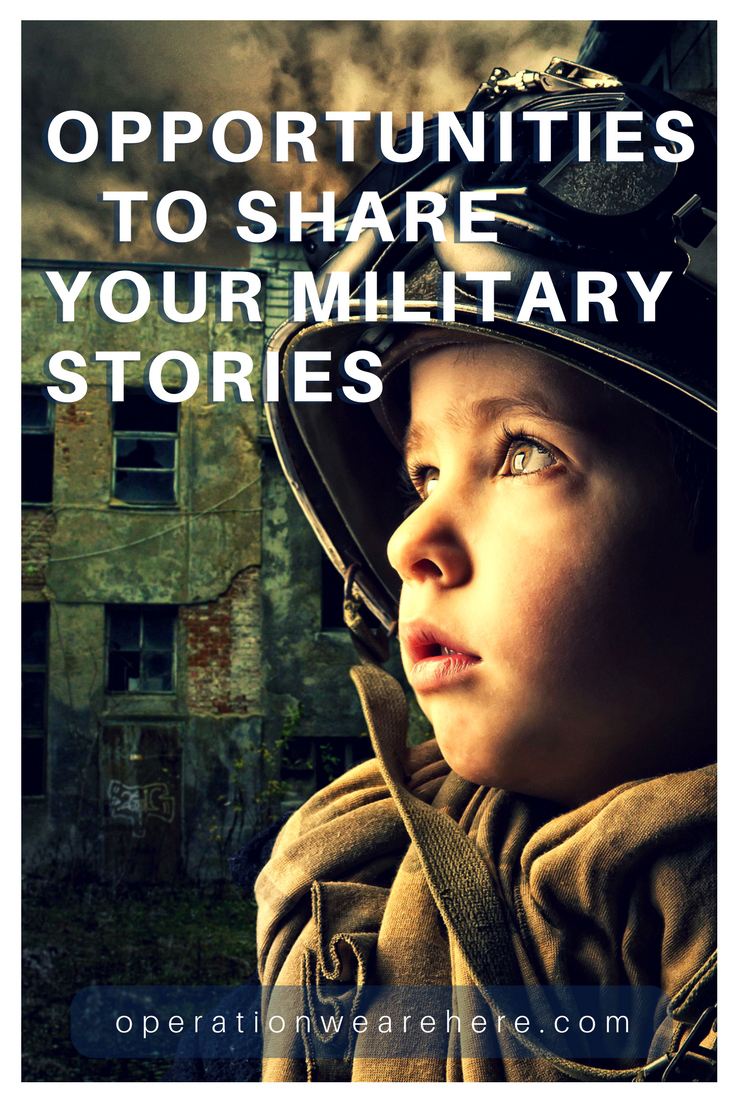 Opportunities for military veterans to share their war stories. #history #honor #remember