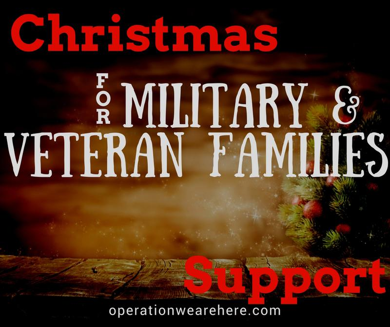 Christmas holiday support for military families & veteran families.