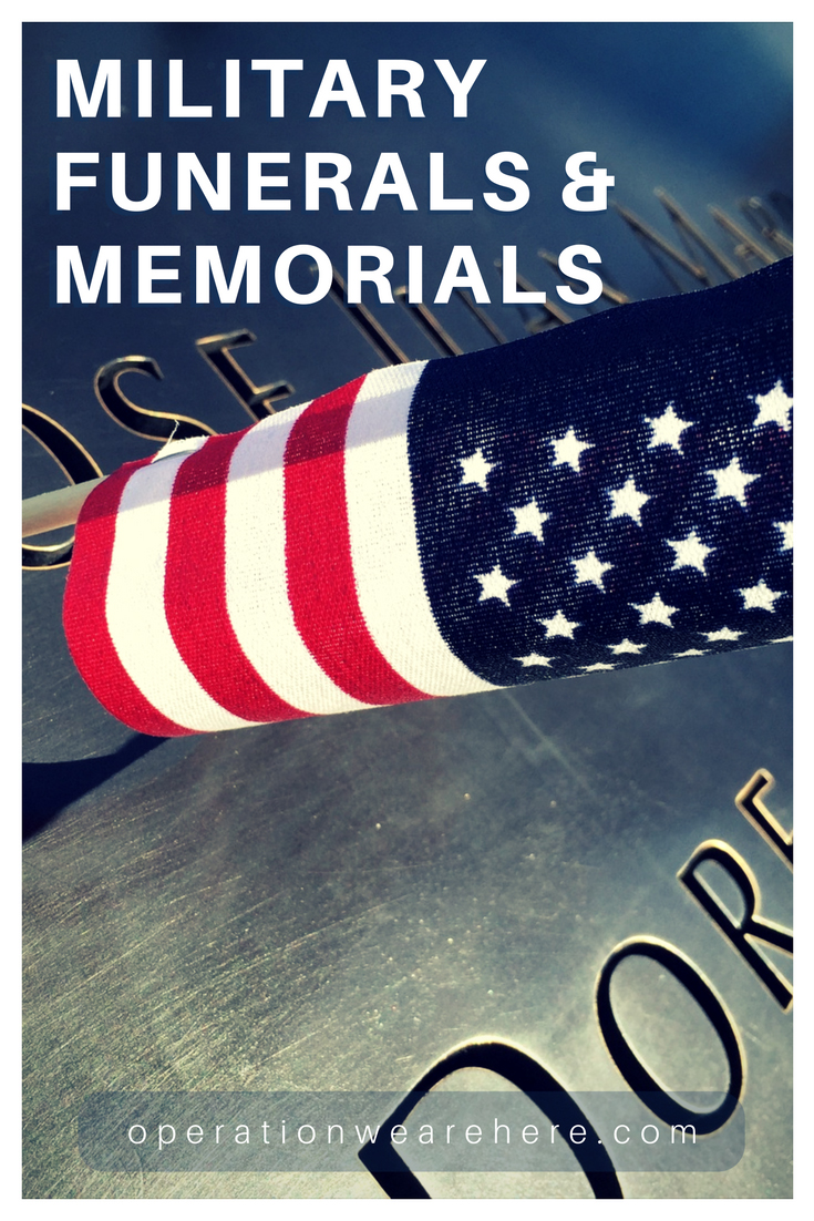 Military funeral & memorial information & support
