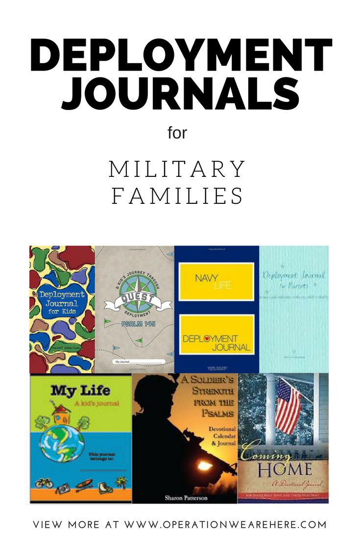 A listing of deployment journals available for military families