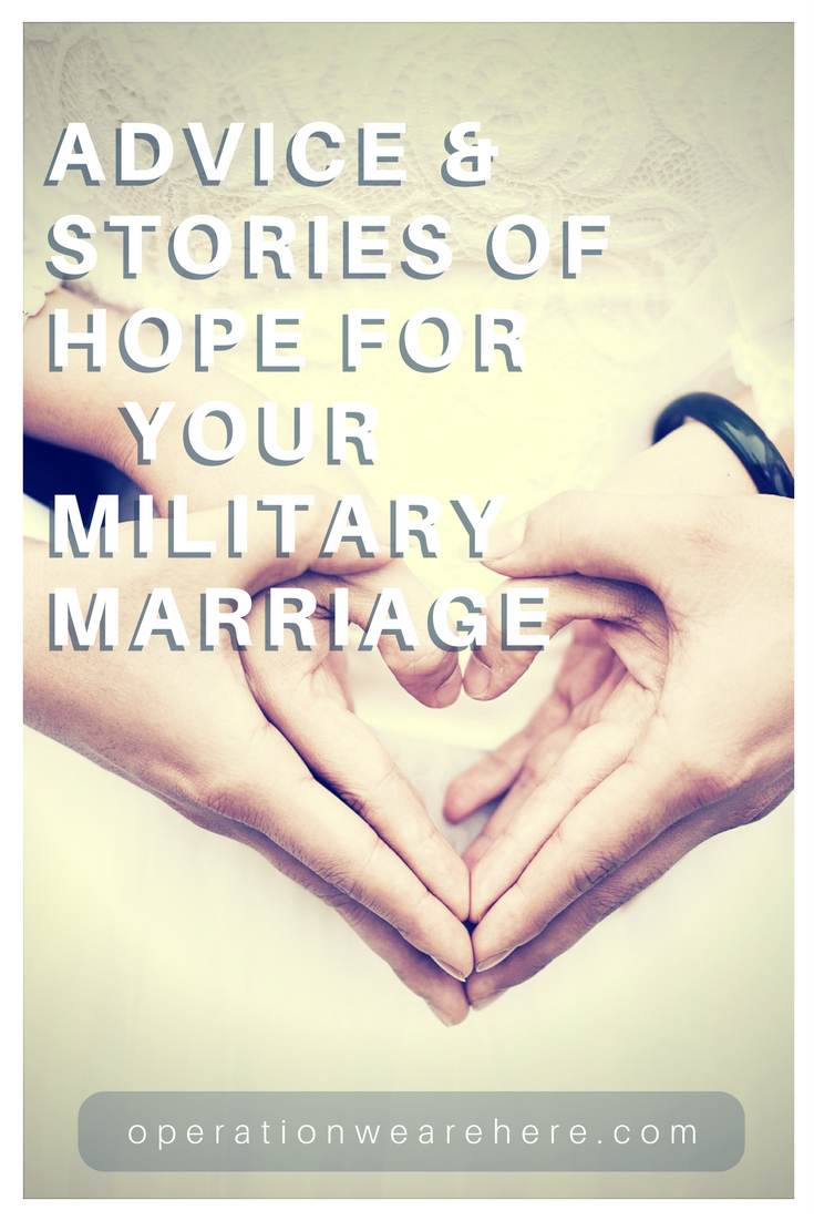 Read these stories of hope & encouragement for your military marriage