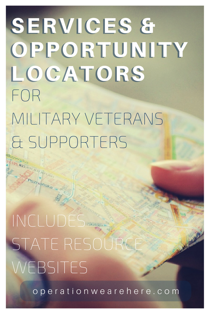 Services & opportunity locators for military & veteran families & military supporters