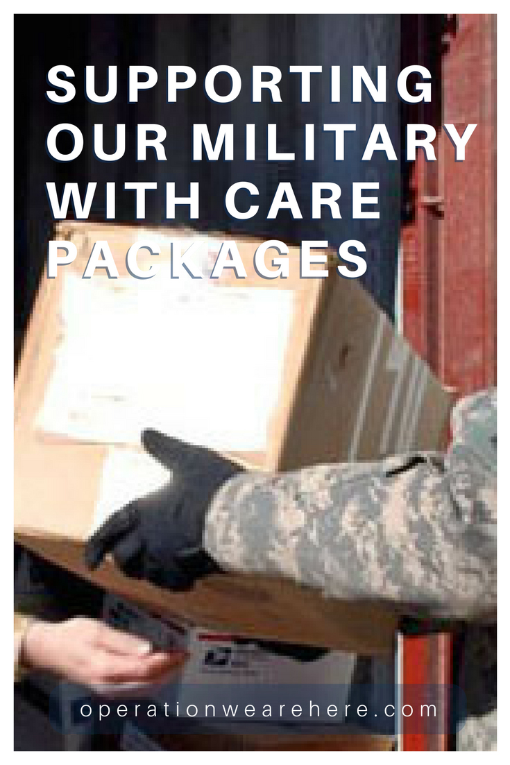 Care package support for deployed military, home front families, wounded warriors, caregivers, veterans, critically ill or sick military children