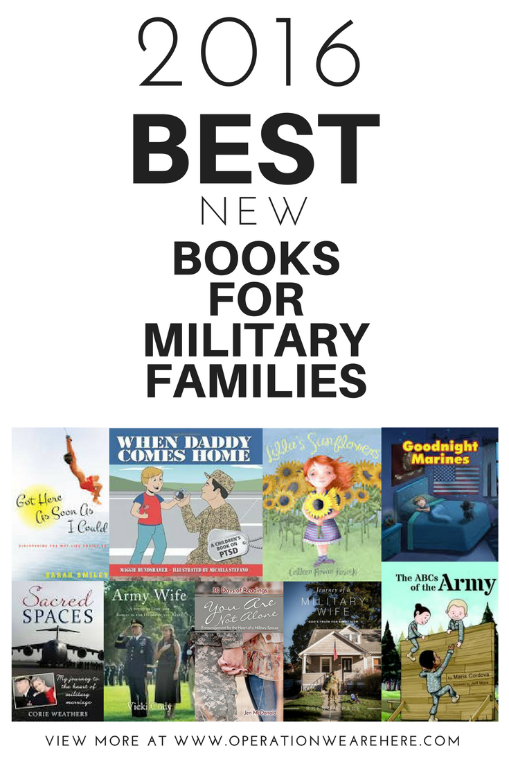 2016 BEST new books for military families. Includes 4 FREE devotionals for military wives! #milchild #milfam