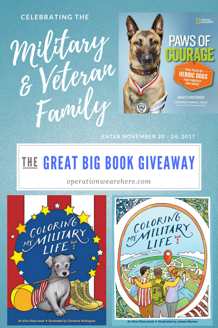The Great Big Book Giveaway for military families, veteran families, and military supporters!