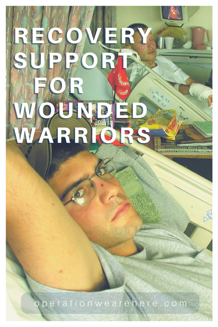 Hospital recovery support for wounded warriors