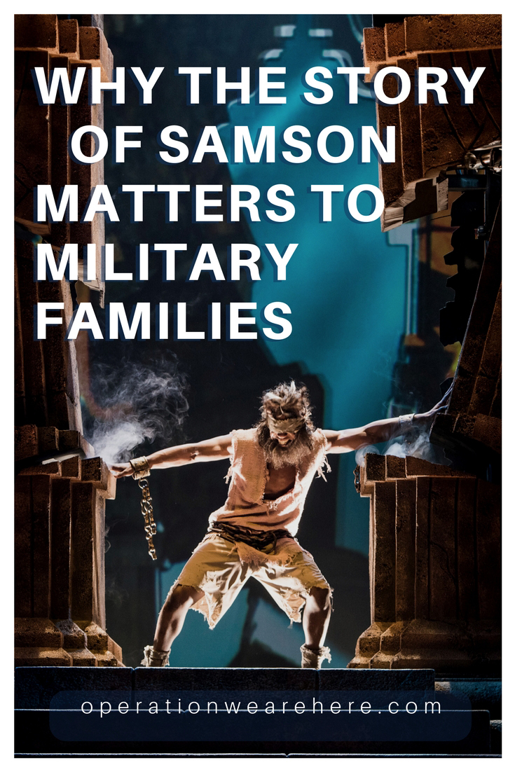 Remember the story of Samson in the Bible? Samson with his long hair. A warrior. A super hero. An irredeemable failure... I'm excited to share 3 reasons why military families should experience the Bible story of Samson at Sight & Sound Theatres in Branson, Missouri!! https://bit.ly/2GNTeHK #MilitaryMonday #MilFam #Veteran #Hope #FamilyFriendly #MilDiscount #PCS #RoadTrip #SightandSoundTheatres #WheretheBibleComestoLife