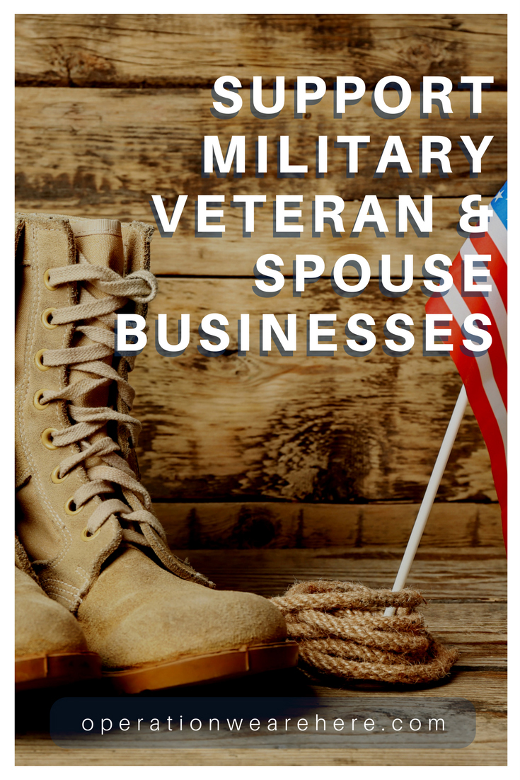 Support military veteran & military spouse businesses. Our listing can help! #militarylife #militaryresources