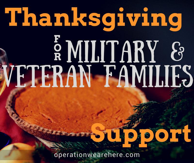 Thanksgiving holiday support for military & veteran families