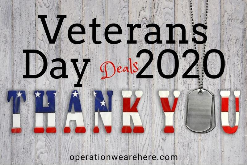 Veterans Day Deals & Promotions 2020 #Free #ThankaVet #MilitarySupport