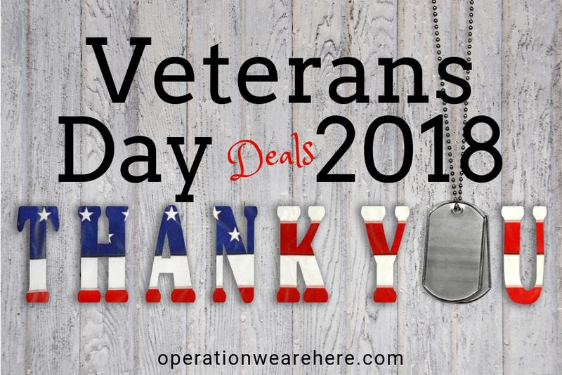Veterans Day Promotions, Freebies, Deals and More    2019