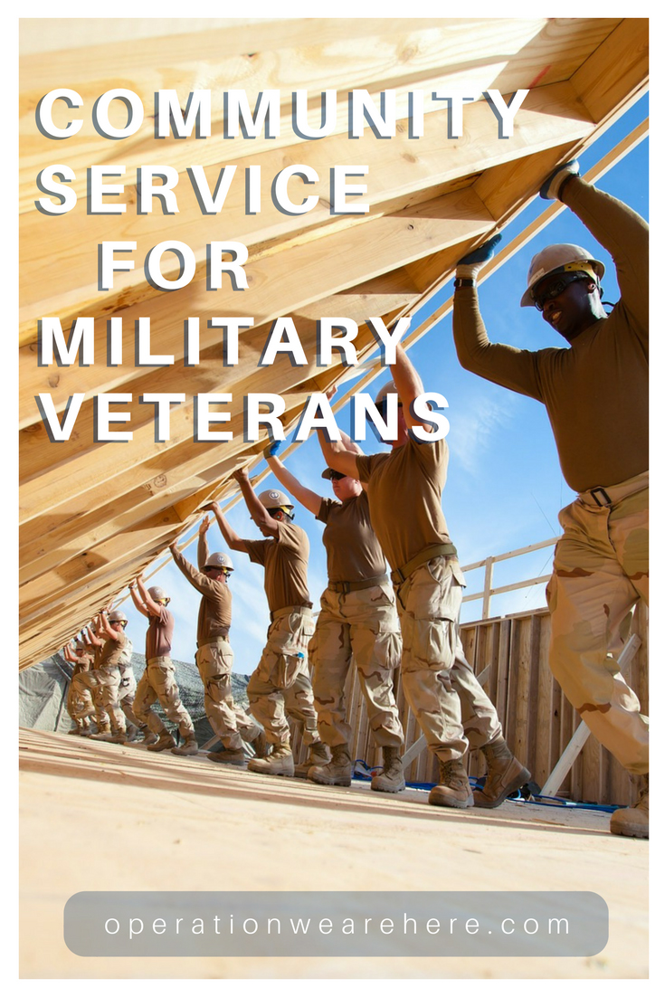 Community service & volunteer opportunities for military veterans