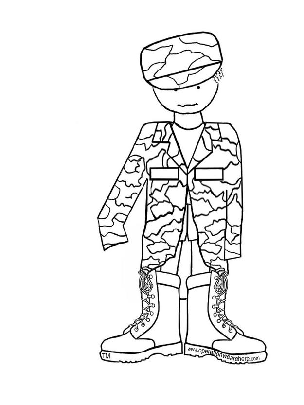child army coloring pages - photo#2