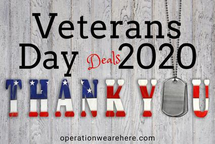 Veterans Day Deals & Promotions 2018 #Free #ThankaVet #MilitarySupport